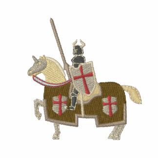 Ritter Templar mittelalterlicher Krieger Bestickte Fleece Track Jacke