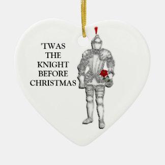 Ritter vor Weihnachten Keramik Ornament