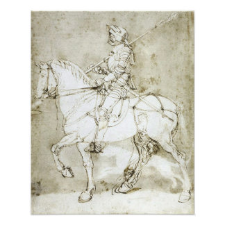 """""""Ritter-zu Pferd"""" gotischer Druck Albrecht Durer Kunst Foto"""