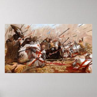 Ritterorden bei einer Schlacht Poster