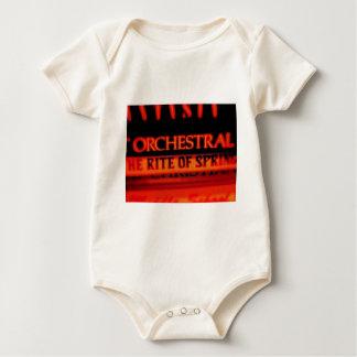 Ritus der Frühlings-Musik-Geschenke Baby Strampler