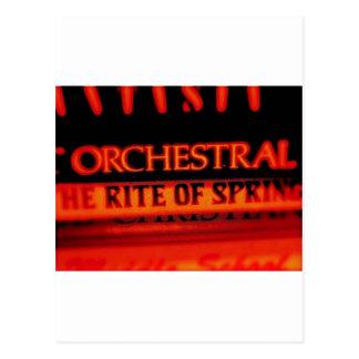 Ritus der Frühlings-Musik-Geschenke Postkarte