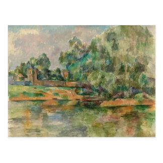 Riverbank durch Postkarte Pauls Cezanne