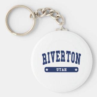 Riverton Utah Uni-Artt-shirts Schlüsselanhänger