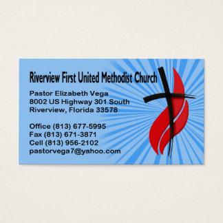 Riverview erster UMC Pastor Visitenkarte
