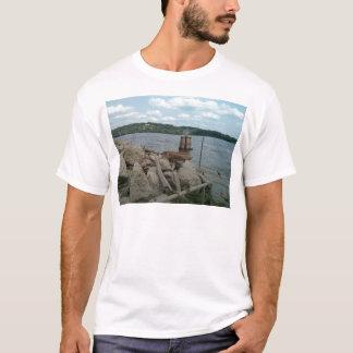 Riverwalk Dubuque Iowa Fluss Mississipi T-Shirt