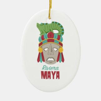 Riviera-Maya-Maske Keramik Ornament