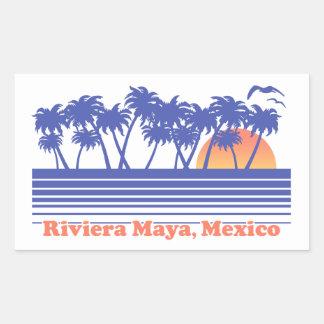 Riviera-Maya Mexiko Rechteckiger Aufkleber
