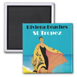 Riviera setzt ~ St Tropez auf den Strand Quadratischer Magnet