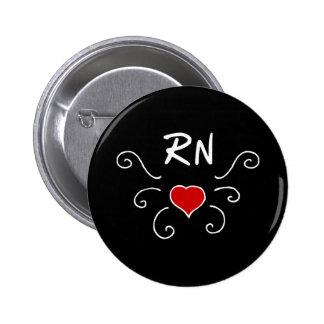Rn-Krankenschwester-Liebe-Tätowierung Runder Button 5,1 Cm