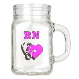 Rn-Krankenschwester-Widmung Einmachglas