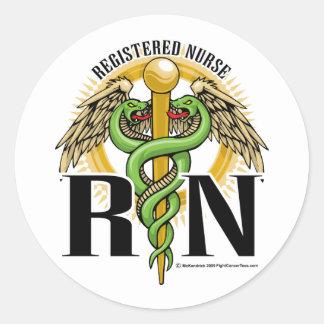 RNcaduceus-Grün Runder Sticker
