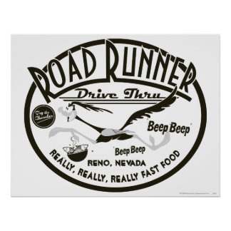 Roadrunner-Antrieb durch Plakat