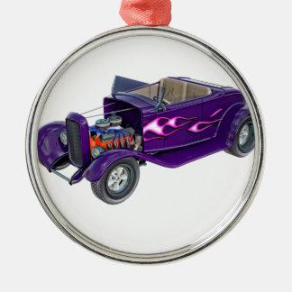 Roadster 1932 mit dem Motor angezeigt Rundes Silberfarbenes Ornament
