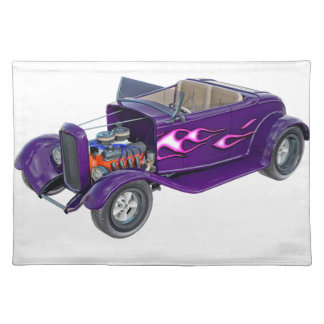 Roadster 1932 mit dem Motor angezeigt Stofftischset