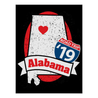 Roadtrip '19 Alabama - dunkles Plakat