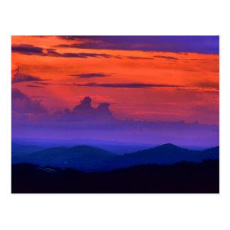 Roanoke-Sonnenuntergangkarten Postkarte