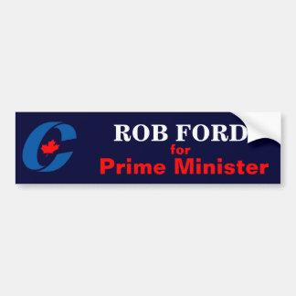 Rob-Ford für Premierminister Autoaufkleber