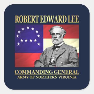 Robert E Lee (kommandierender General) Quadratischer Aufkleber