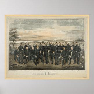 Robert E. Lee u. seine zivilen Poster