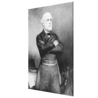 Robert- Edward Leeporträt durch John Leinwanddruck