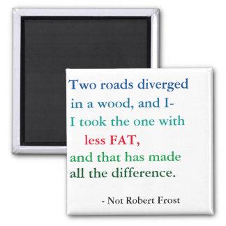 Robert Frost-Gewichts-Verlust-Motivation Quadratischer Magnet