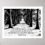 Robert Frost - Zitat-Druck Posterdrucke