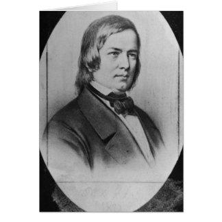 Robert Schumann gravierte von einer Fotografie Karte
