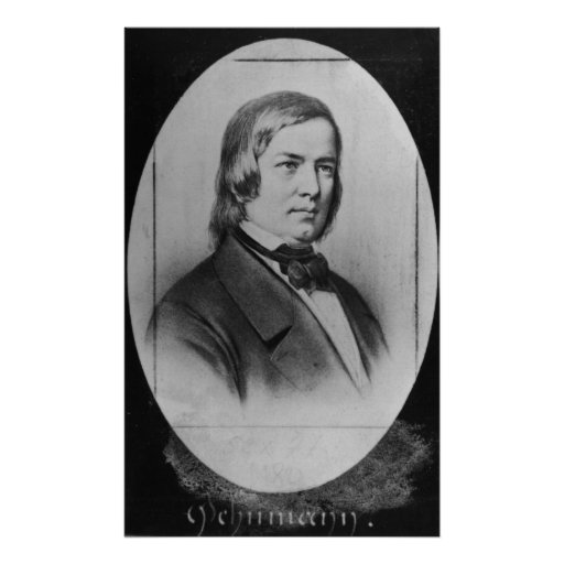 Robert Schumann gravierte von einer Fotografie Posterdruck