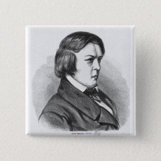 Robert Schumann Quadratischer Button 5,1 Cm