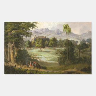 Robert Scott Duncanson - Chapultpec Schloss Rechteckiger Aufkleber