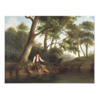 Robert Scott Duncanson - Mann-Fischen Fotodruck