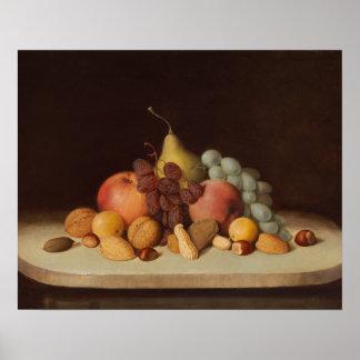 Robert Scott Duncanson - Stillleben mit Frucht Poster