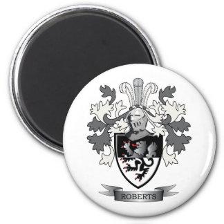 Roberts-Familienwappen-Wappen Runder Magnet 5,7 Cm