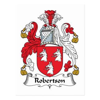 Robertson-Familienwappen Postkarte