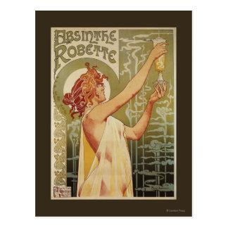 Robette Wermut-Anzeige-Plakat Postkarte