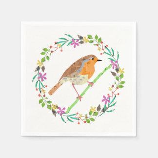 Robin der Vogel von Weihnachten Serviette