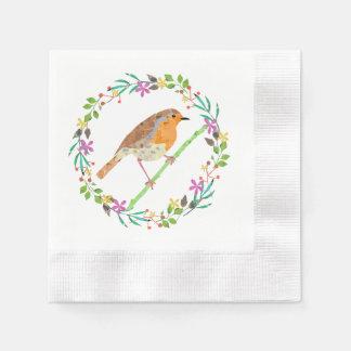 Robin der Vogel von Weihnachten Servietten