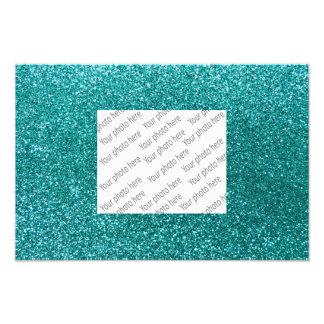 Robin-Eiblau-Glitter Fotografischer Druck