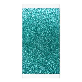Robin-Eiblau-Glitter Foto Karten Vorlage