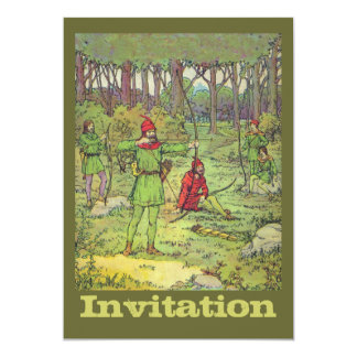 Robin Hood im Wald 12,7 X 17,8 Cm Einladungskarte