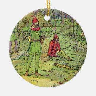 Robin Hood im Wald Keramik Ornament