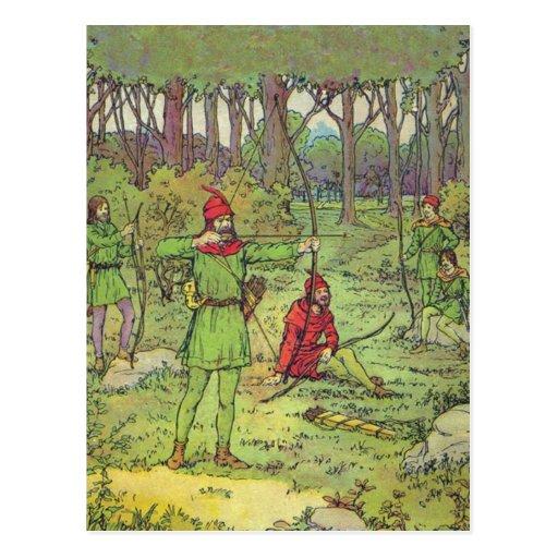Robin Hood im Wald Postkarte