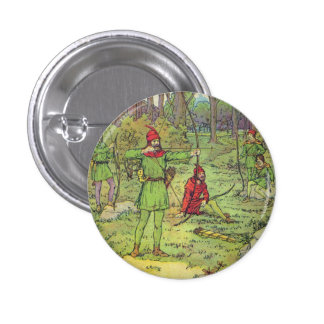 Robin Hood im Wald Runder Button 2,5 Cm