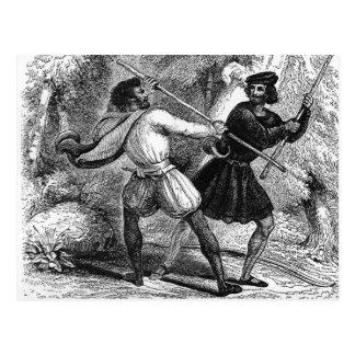 Robin Hood und das Tanner mit Viertel-Personal Postkarte
