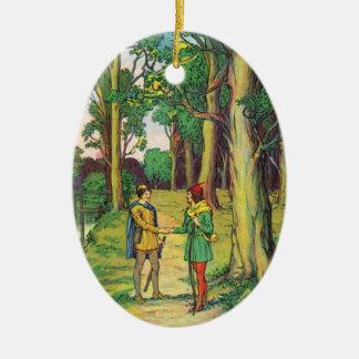Robin Hood und kleiner John Keramik Ornament