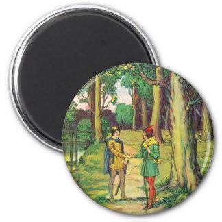 Robin Hood und kleiner John Runder Magnet 5,1 Cm