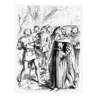 Robin Hood und König Richard I Postkarte