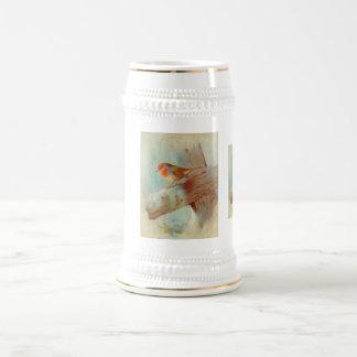 Robin redbreast bierglas