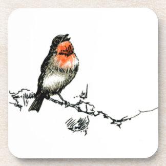 Robin Redbreast - das Weihnachten Robin Drink Untersetzer